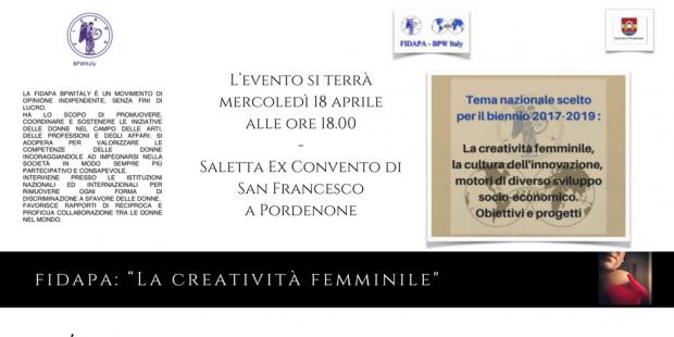 Fidapa: La creatività femminile